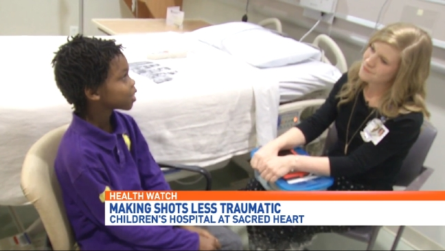 Sacred Heart making shots less traumatic for kids