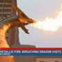 Giant metallic fire-breathing dragon visits Rochester
