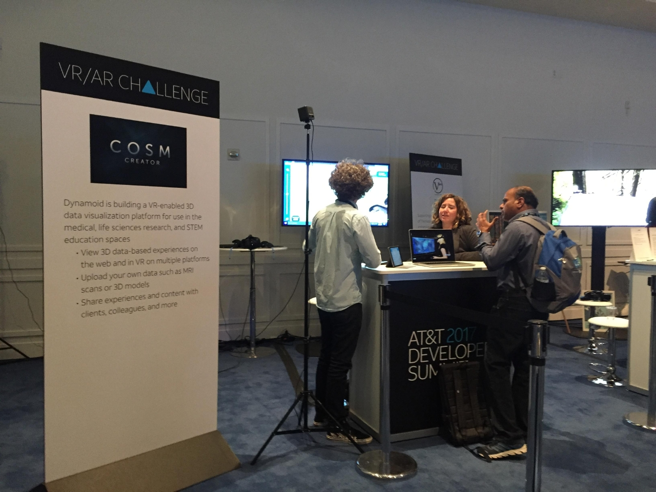 During a busy tech week in Las Vegas, AT&T held their Developer Summit at the Palms Casino Resort from Jan. 3-4, 2017, also featuring a VR/AR competition (Jami Seymore | KSNV)