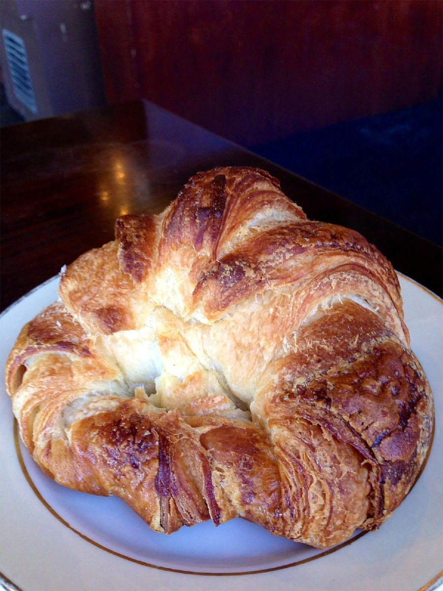 Soft and buttery, this croissant is a Seattle staple. (Image: Jenny Kuglin / Seattle Refined)