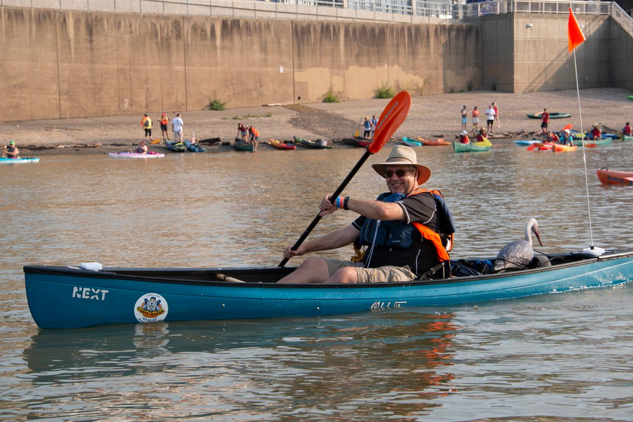 The 17th annual Ohio River Paddlefest was held on Saturday, August 4, 2018. An estimated 2,000 participants paddled down the Ohio River for 3 hours, leaving from Schmidt Field Recreational Complex and ending at Gilday/Riverside Recreational Complex. The event benefitted the Outdoor Adventure Clubs of Greater Cincinnati. / Image: Dr. Richard Sanders // Published: 8.5.18