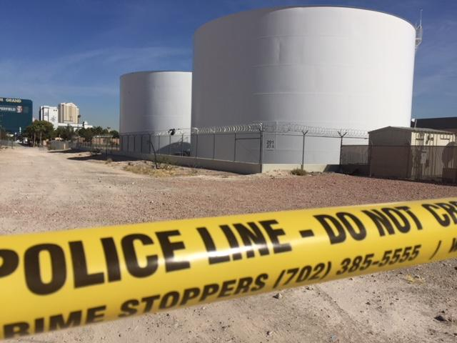 A bullet pierced an aviation fuel tank and struck another during the Oct. 1 shooting on the concert crowd at Route 91. (Craig Fiegener/KSNV)