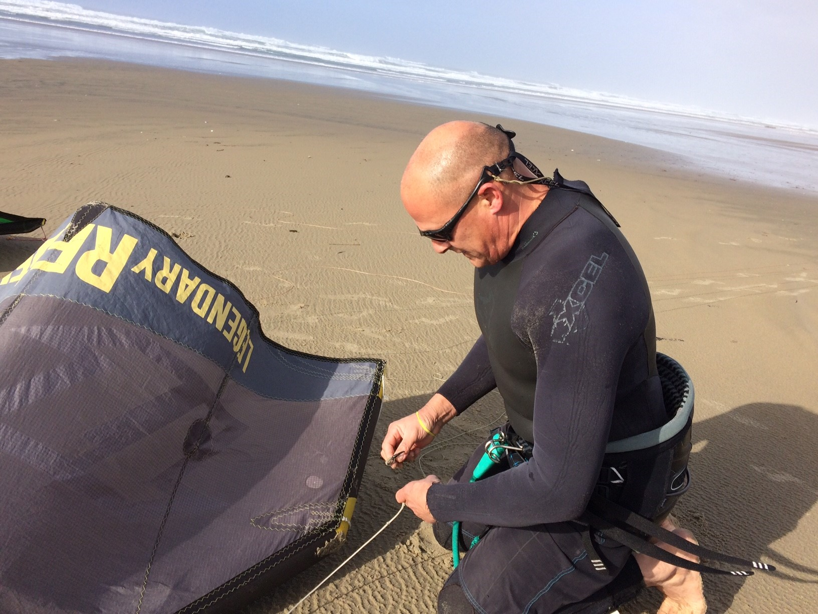 <p>When the worst of the wind passed, the sun came out - and so did kiteboarder Joel Lira. &quot;I'm out here to have some fun,&quot; he said, &quot;and take advantage of what the Oregon coast has to offer.&quot; (SBG)</p>