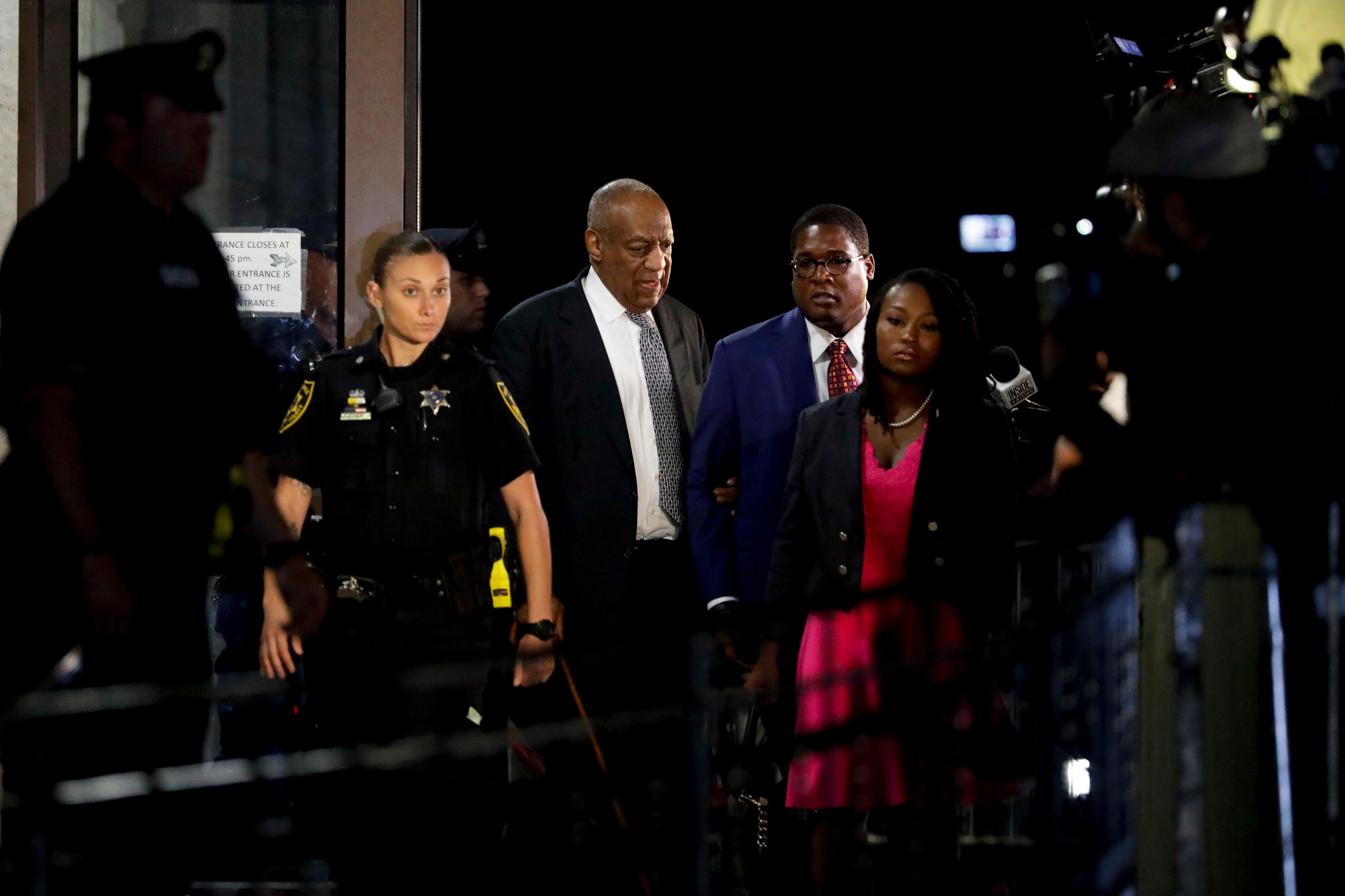 Bill Cosby leaves the Montgomery County Courthouse during his sexual assault trial, Friday, June 16, 2017, in Norristown, Pa. (AP Photo/Matt Slocum)