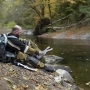 ODFW personnel work to keep wild steelhead in the Siletz River