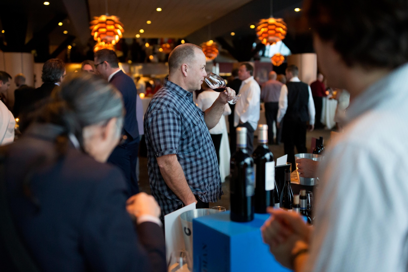 The Red & White Party is held at the renowned AQUA by El Gaucho on Seattle's waterfront, and kicks off the weekend-long event that is Taste Washington. This elegant affair features top Washington winemakers pouring only their most coveted bottles. (Sy Bean / Seattle Refined)