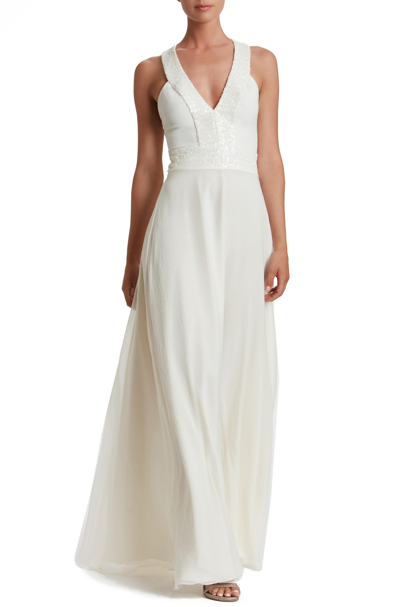 Dress the Population, 'Delani' Sequin Crepe Gown, $248, Nordstrom.com (Image: Courtesy Nordstrom)