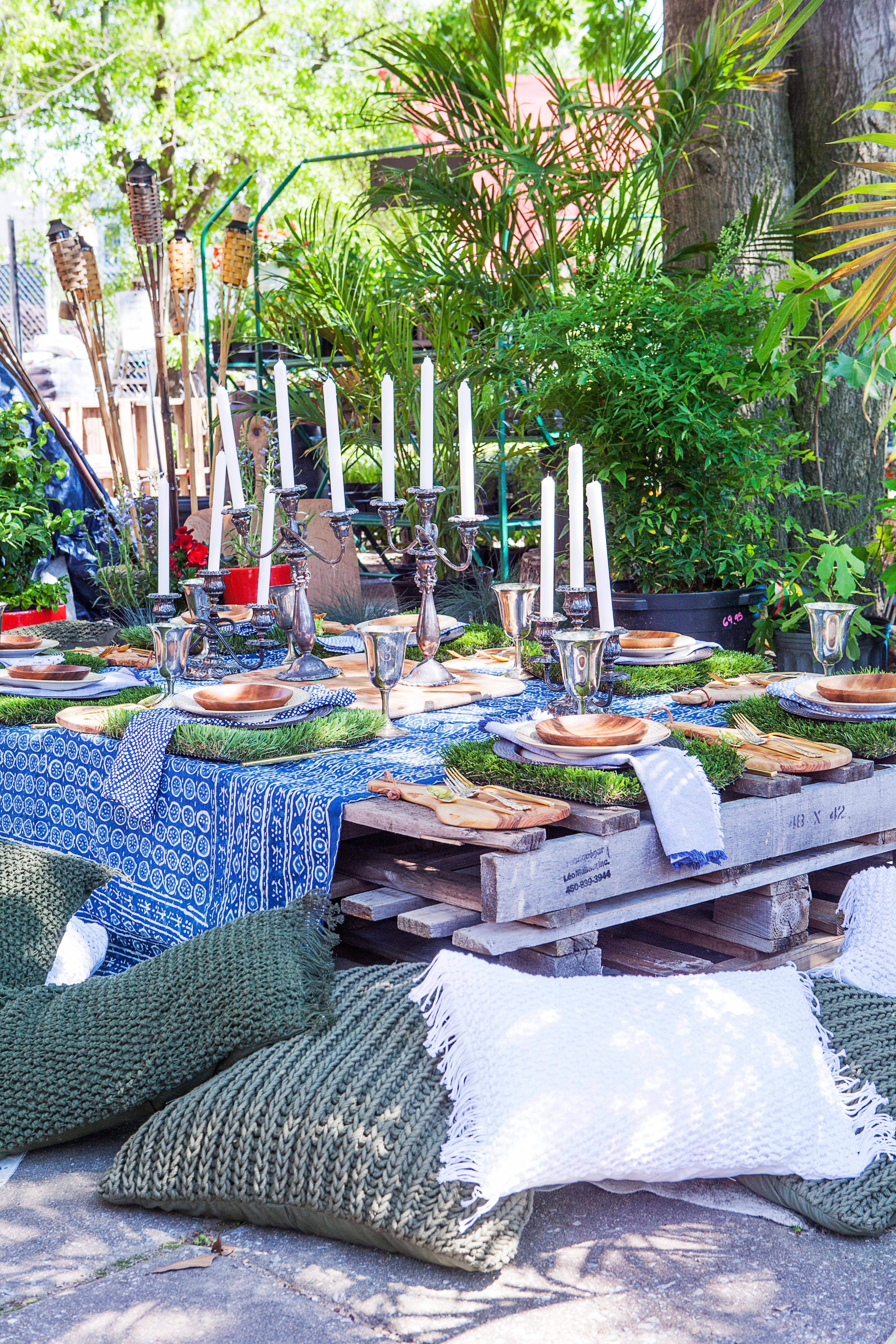 Whether it is in your backyard, in a public park or in the forest, take the time to find just the right location. This is the canvas that you embellish with tables, plates, etc.(Image: Ashley Hafstead)