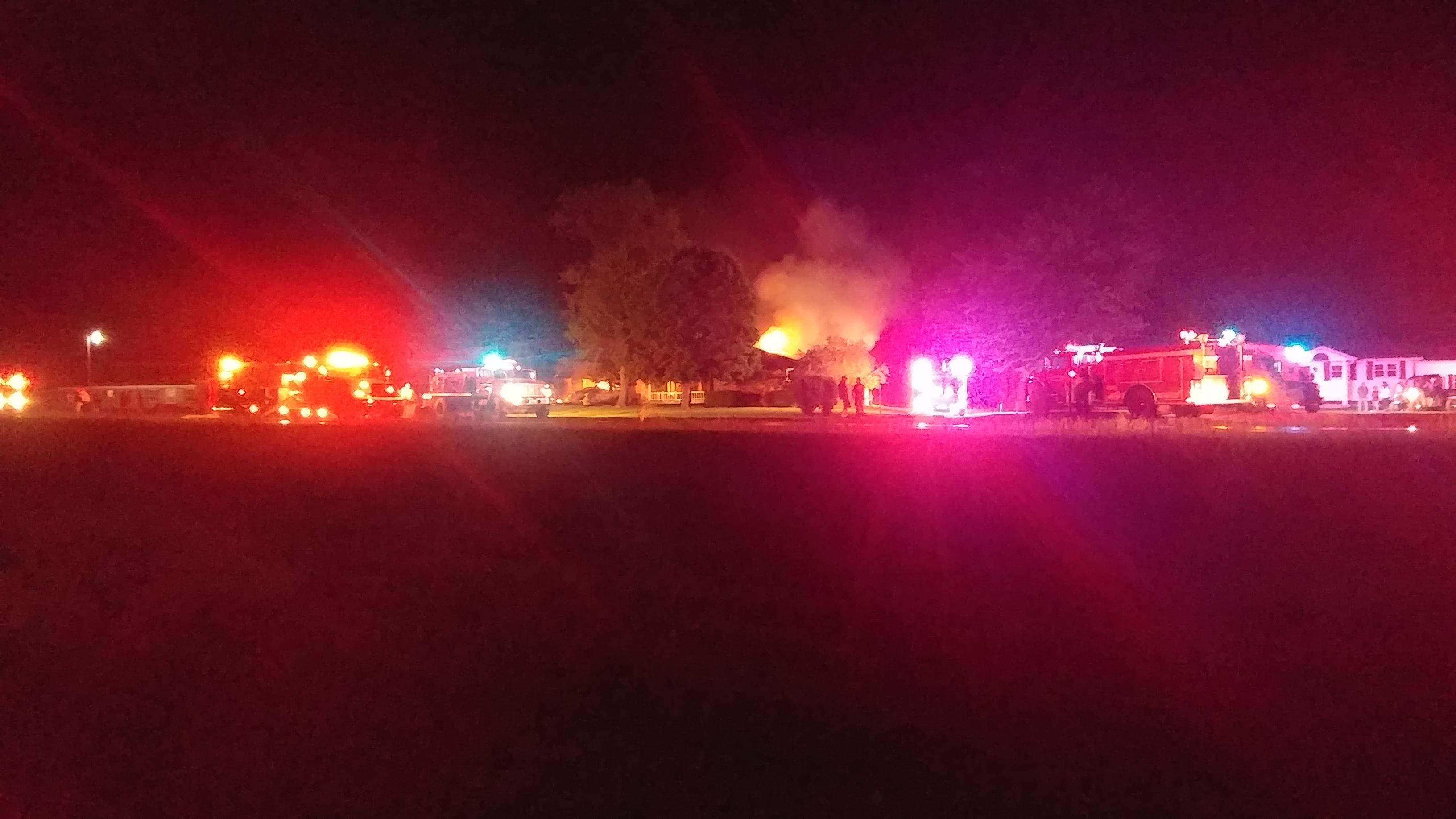 A structure fire broke out just before 10:30 p.m., Monday night at the Ramsey Jones Mobile Home Park in LaGrange, MO.
