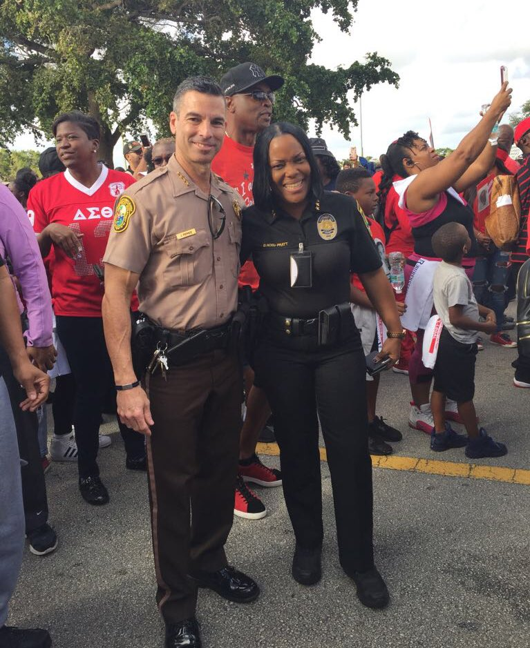 Miami LEOs join Trayvon Martin rally. (Miami-Dade Police Department)