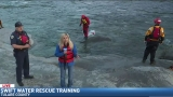 Wendi learns about swift water rescue