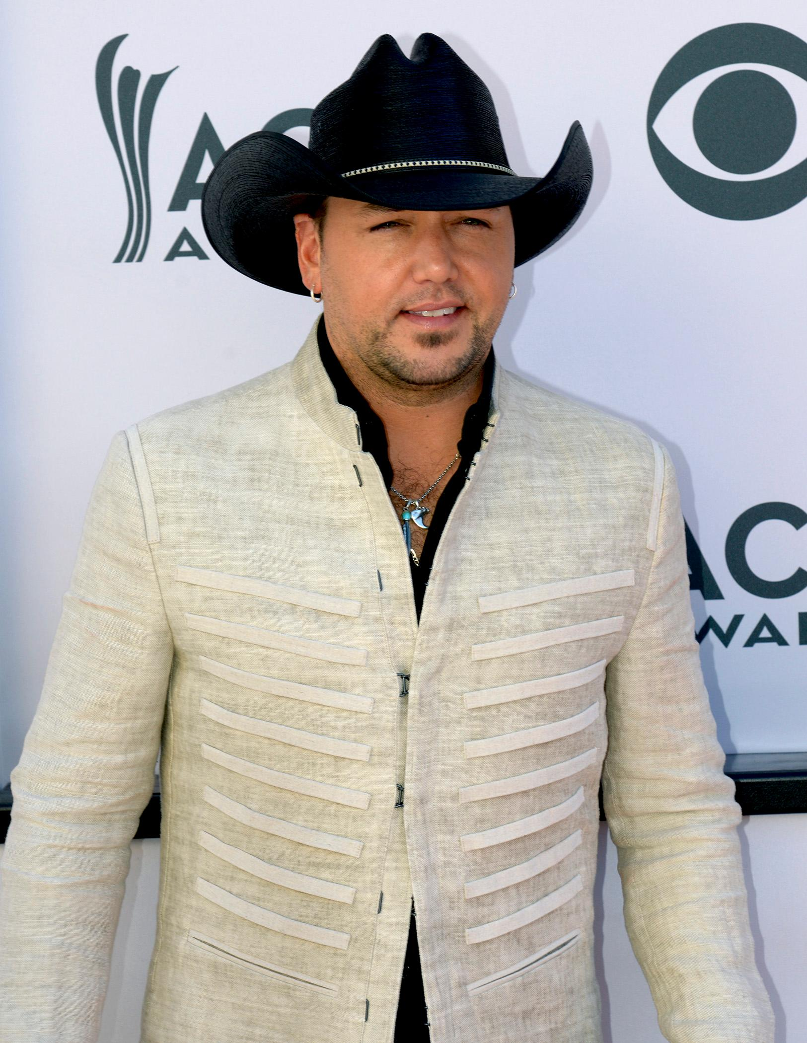 Singer Jason Aldean, nominee for Entertainer of the Year and Male Vocalist of the Year walks the Academy of Country Music Awards red carpet at T-Mobile Arena. Sunday, April 2, 2017. (Glenn Pinkerton/ Las Vegas News Bureau)