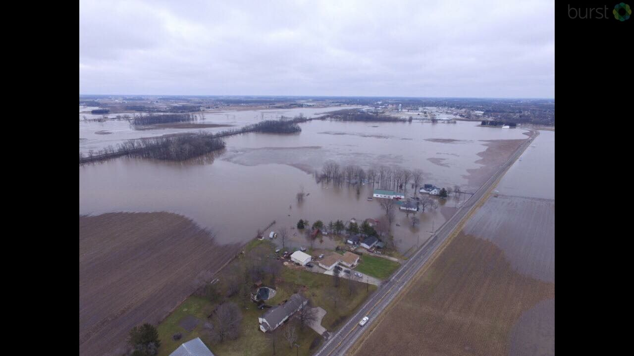 Flooding in Bremen. Photo provided by a viewer.