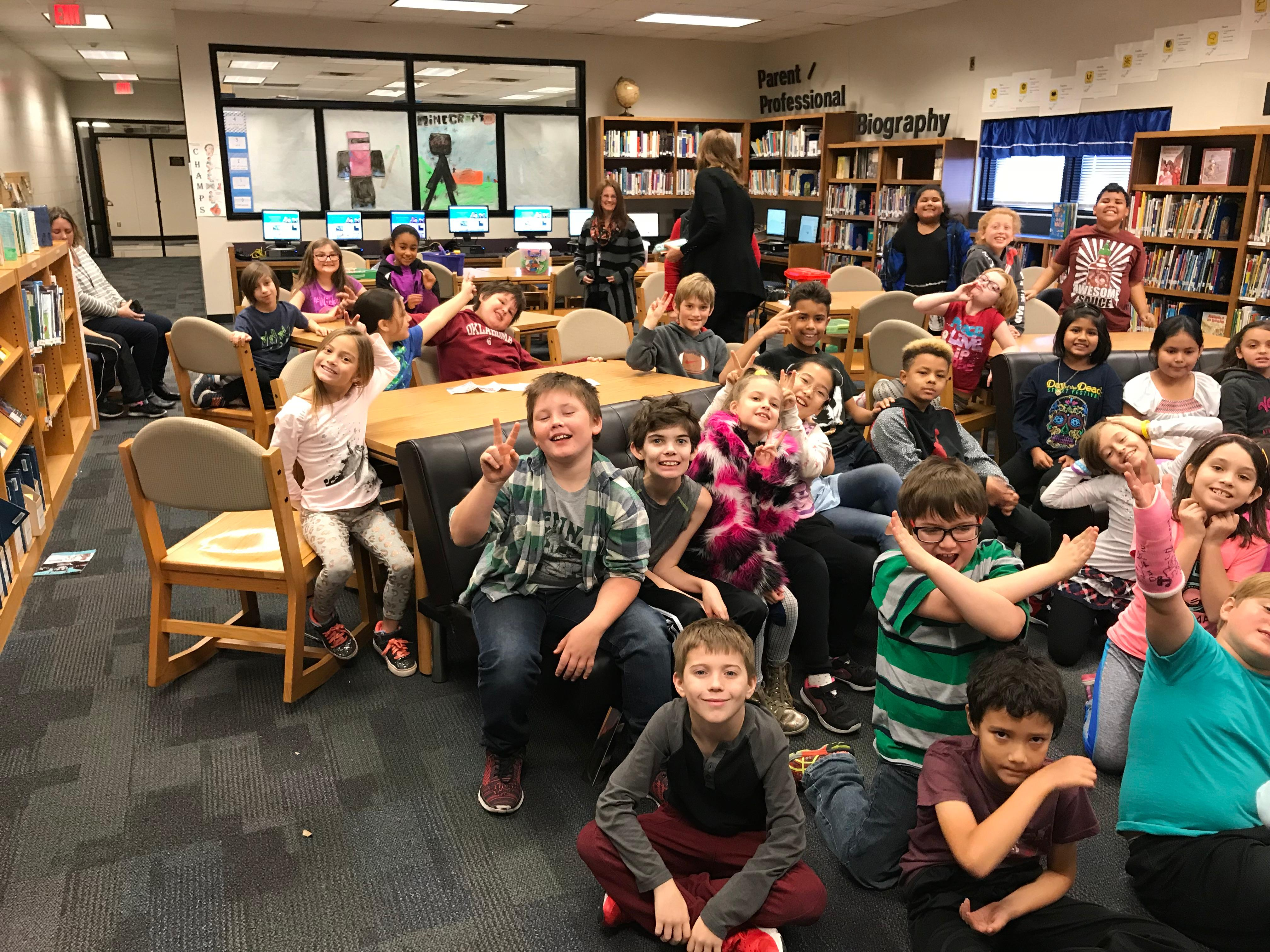 The 3rd graders at Lincoln Elementary in Norman on Our December 12, 2017 visit!<p></p>