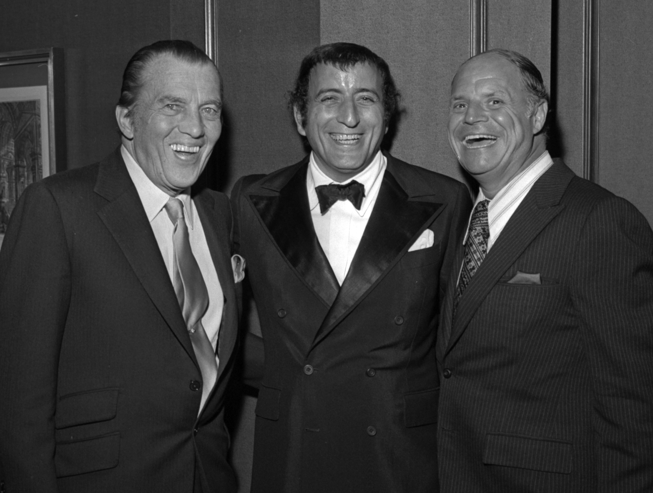 Ed Sullivan, Tony Bennett and Don Rickles at Tony Bennett opening night party at the Riviera on Oct. 26, 1971. [Las Vegas News Bureau file photo]