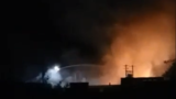 Fire engulfs large warehouse in Gleed