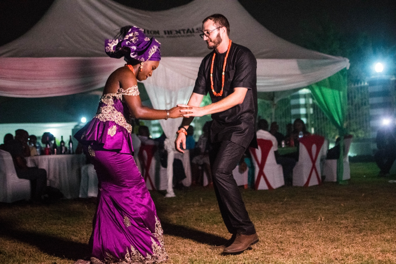 Ugochi and Tim met in the summer of 2013 at a friends birthday party and the rest is history. Tim planned a beach getaway for the two in June 2015, where he got down on one knee and proposed to Ugochi. Ugochi is Nigerian-American and in Nigerian culture, two wedding ceremonies are often done. First, you have a traditional wedding and then a white wedding (named because this is when the bride wears her white dress).  (Emeka Nwakibu/@itsnationdotcom)