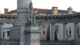 'Racist' spray painted on Jefferson Davis statue in Richmond