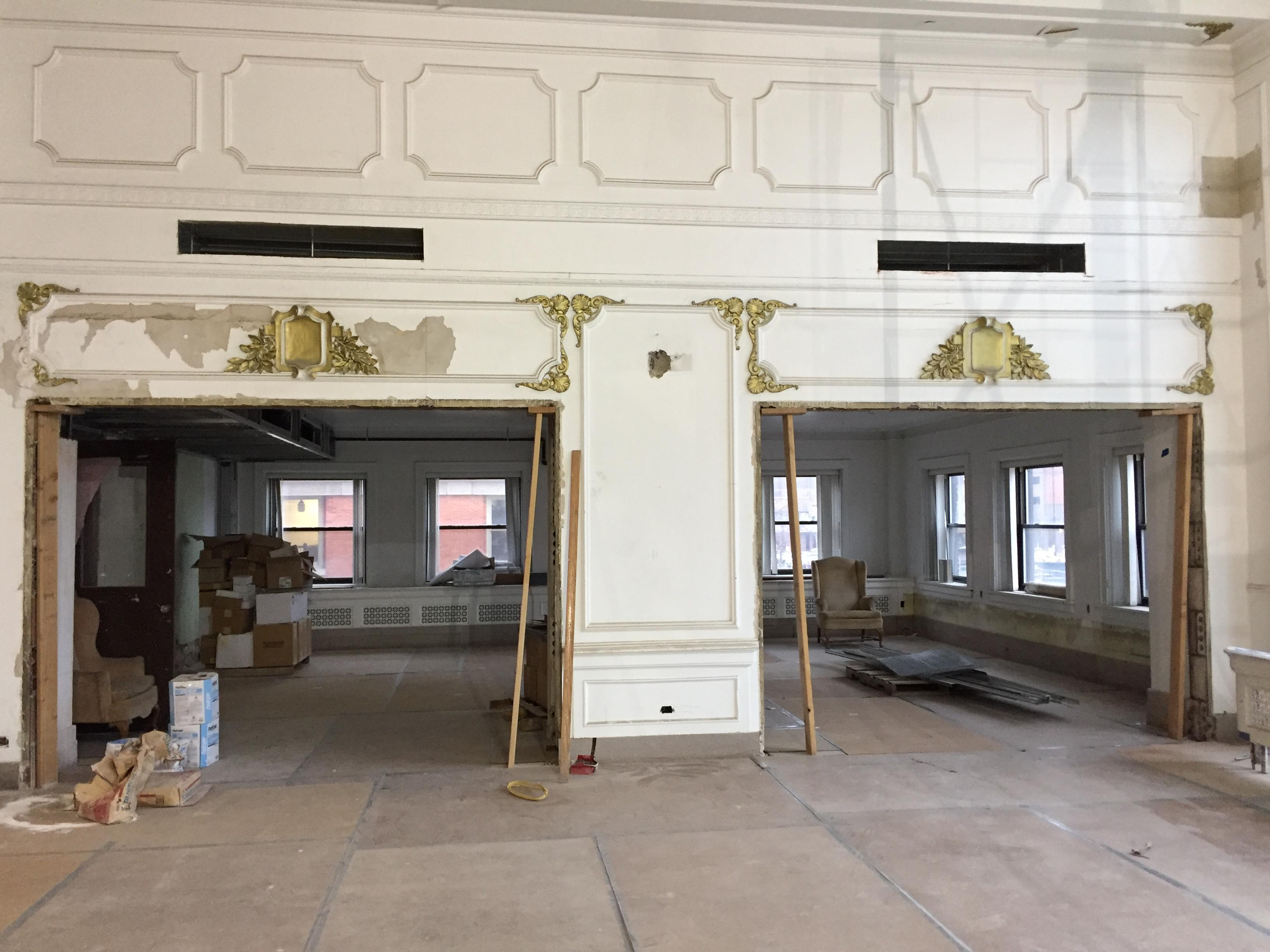 The ballroom under construction in the Hotel Northland on January 11, 2018. (Photo credit: WLUK)