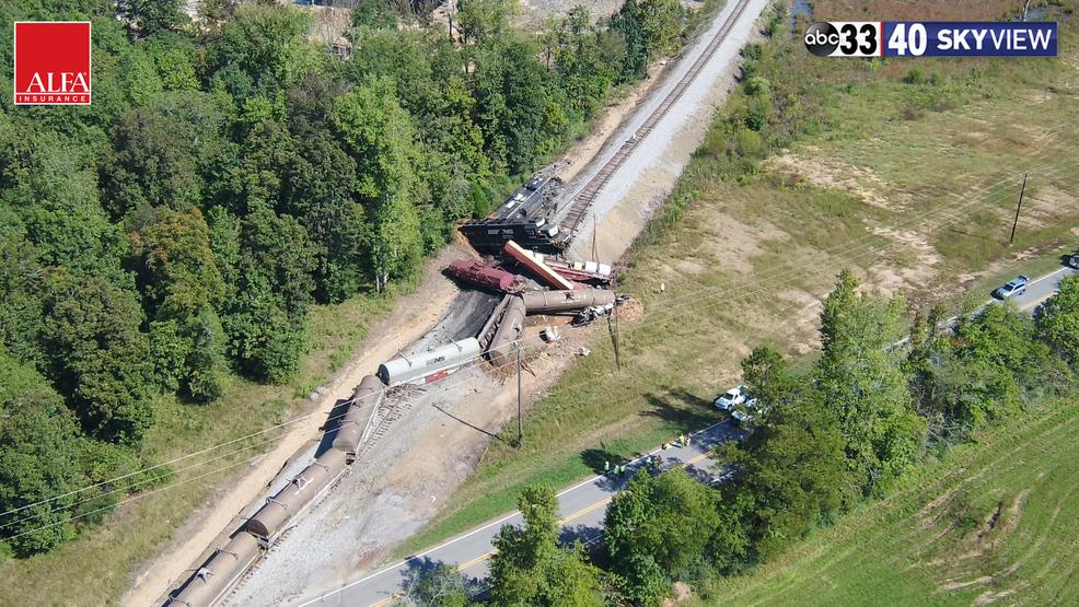 SkyView 33/40 RAW Video: Calera train derailment September