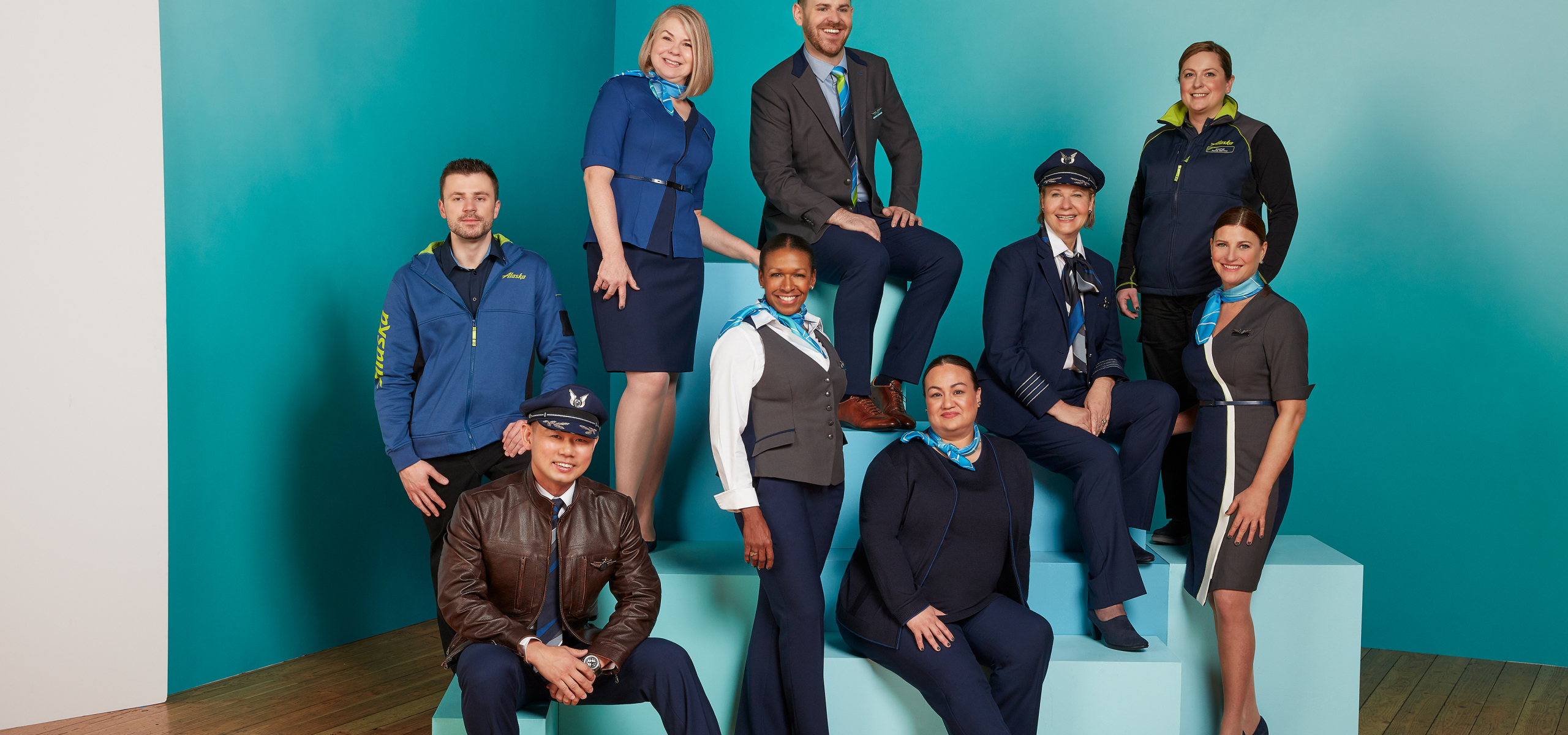 Alaska Airlines has unveiled it's new West-Coast inspired line of uniforms, custom-designed by Seattle fashion designer Luly Yang. (Photo: Alaska Airlines)<p></p>
