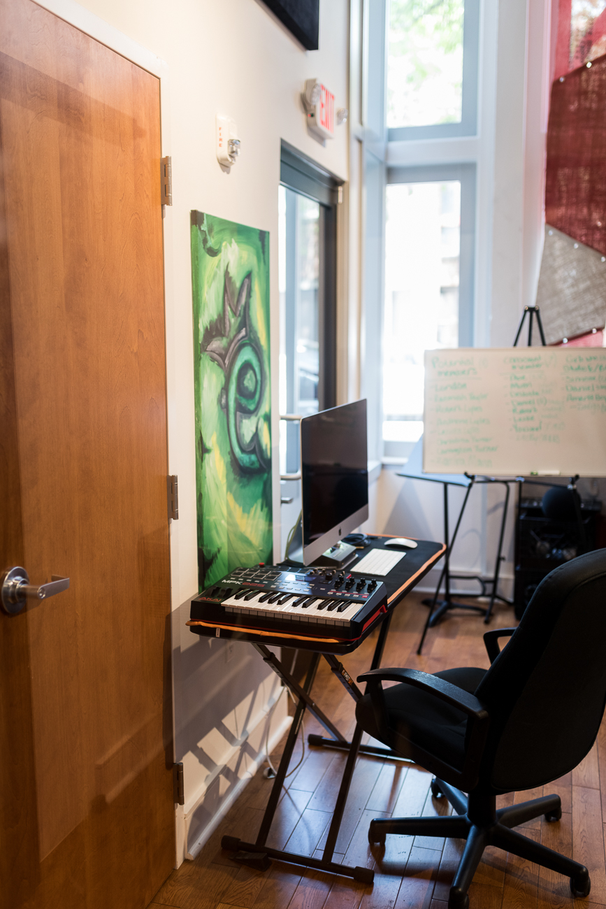 As a response to COVID-19, online options have been utilized for DJ classes, podcasts, tutorials, etc. The center has reopened at limited capacity for vocal recording and music production by appointment. Everyone receives a temperature check before entering the building, and staff wear face masks when interacting with youth. Current hours of operation are Monday through Thursday from 3 to 6 PM. They are working with ages 12 to 20 right now. Visit Elementz.org for more info. / Image: Kevin Watkins // Published: 8.20.20