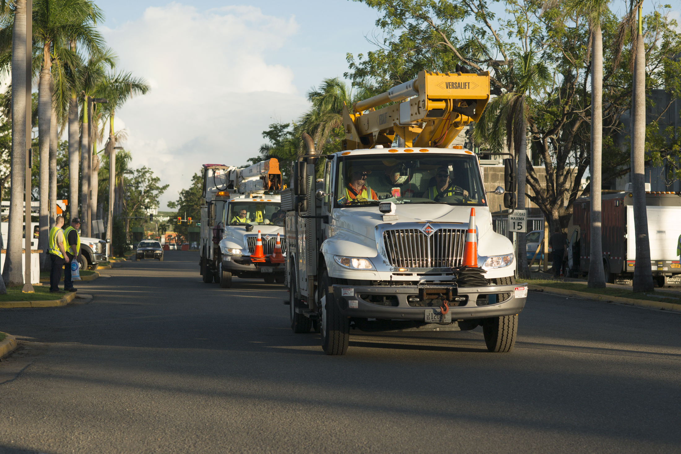 WPS and We Energies crews heading to work site in San Juan, Puerto Rico. (Photo courtesy of Wisconsin Public Service)