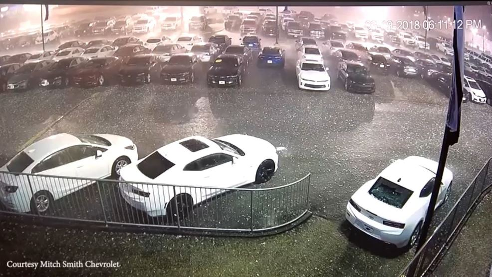 Chevrolet Birmingham Alabama >> WATCH | Hail storm deals significant damage to Mitch Smith Chevrolet in Cullman County | WBMA