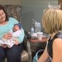 Miss Tri-Cities crafts hats for newborns at Kadlec