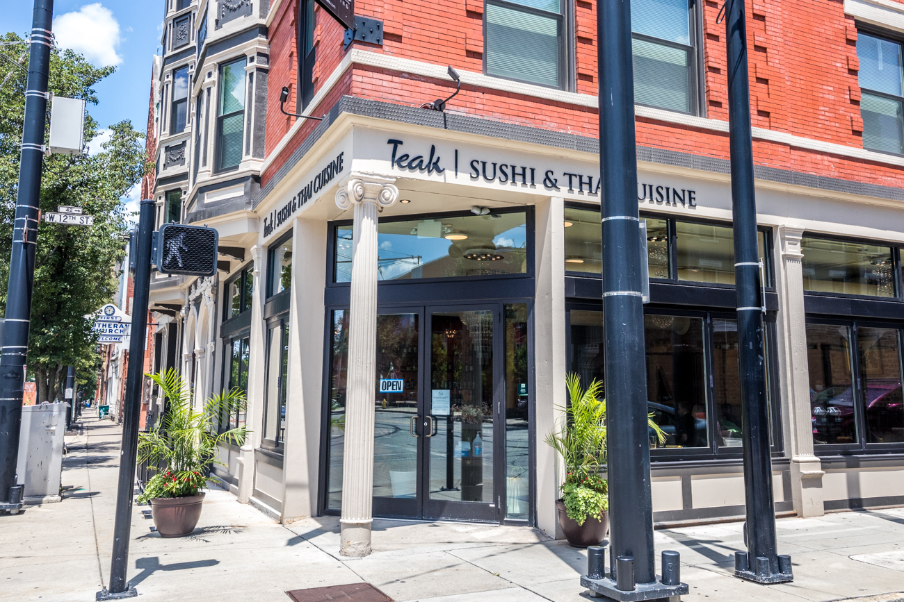 Teak, the popular Mt. Adams restaurant specializing in authentic sushi and Thai cuisine, reopened in a new space across from Washington Park in Over-the-Rhine. The original spot operated from the 90s through 2017 before closing its doors. Teak OTR opened in July 2020 and features many of their previous menu items with a few modern and healthier tweaks. Some of Teak's former team members, including owner Chanaka Delanerolle, are back on board. ADDRESS: 1200 Race Street (45202) / Image: Catherine Viox // Published: 8.19.20