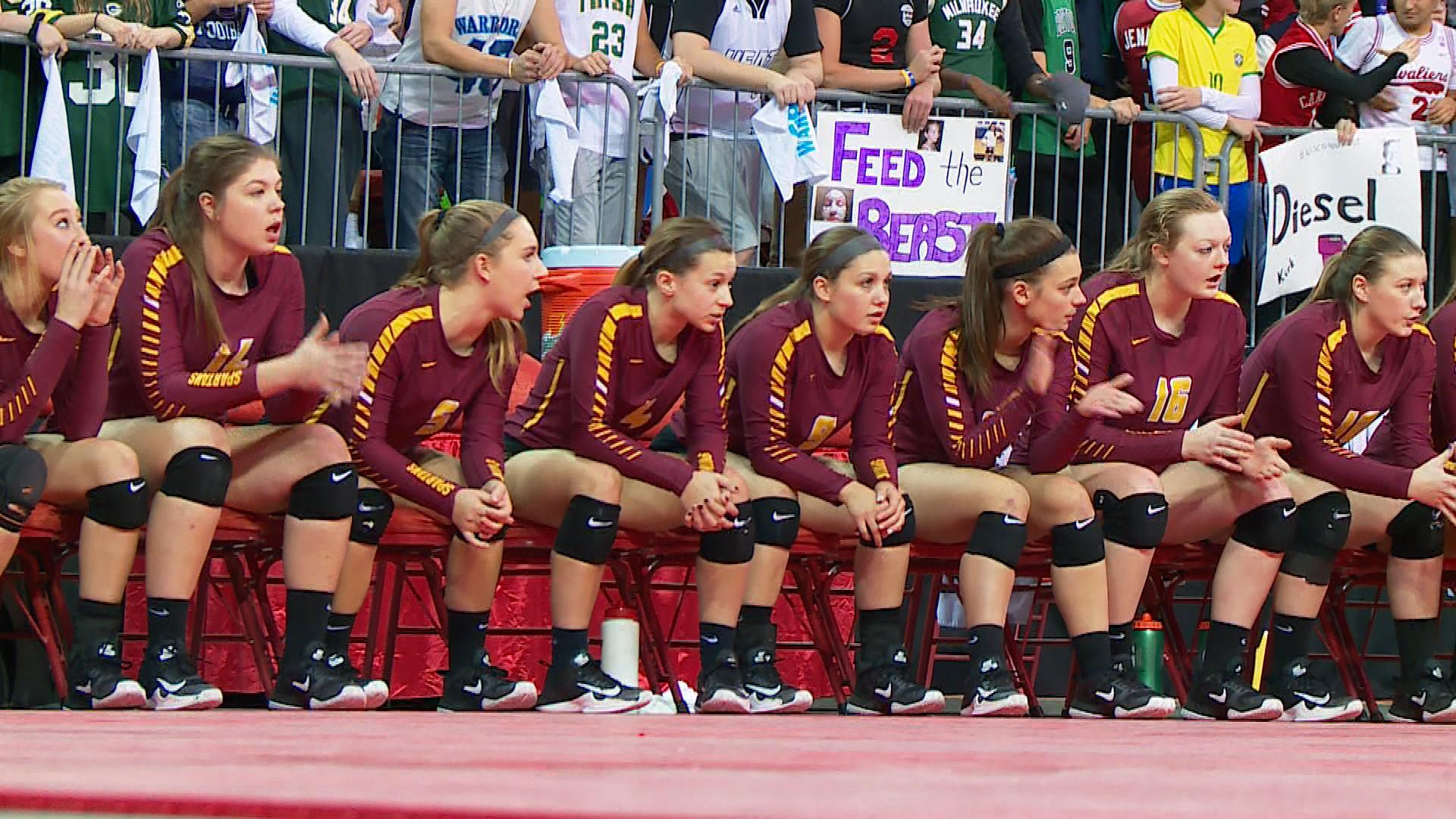 Luxemburg-Casco played Lakeside Lutheran in the Division 2 girls state volleyball championship Saturday at the Resch Center.