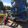 Pump trucks working to ease flooding at Eagle mobile home park