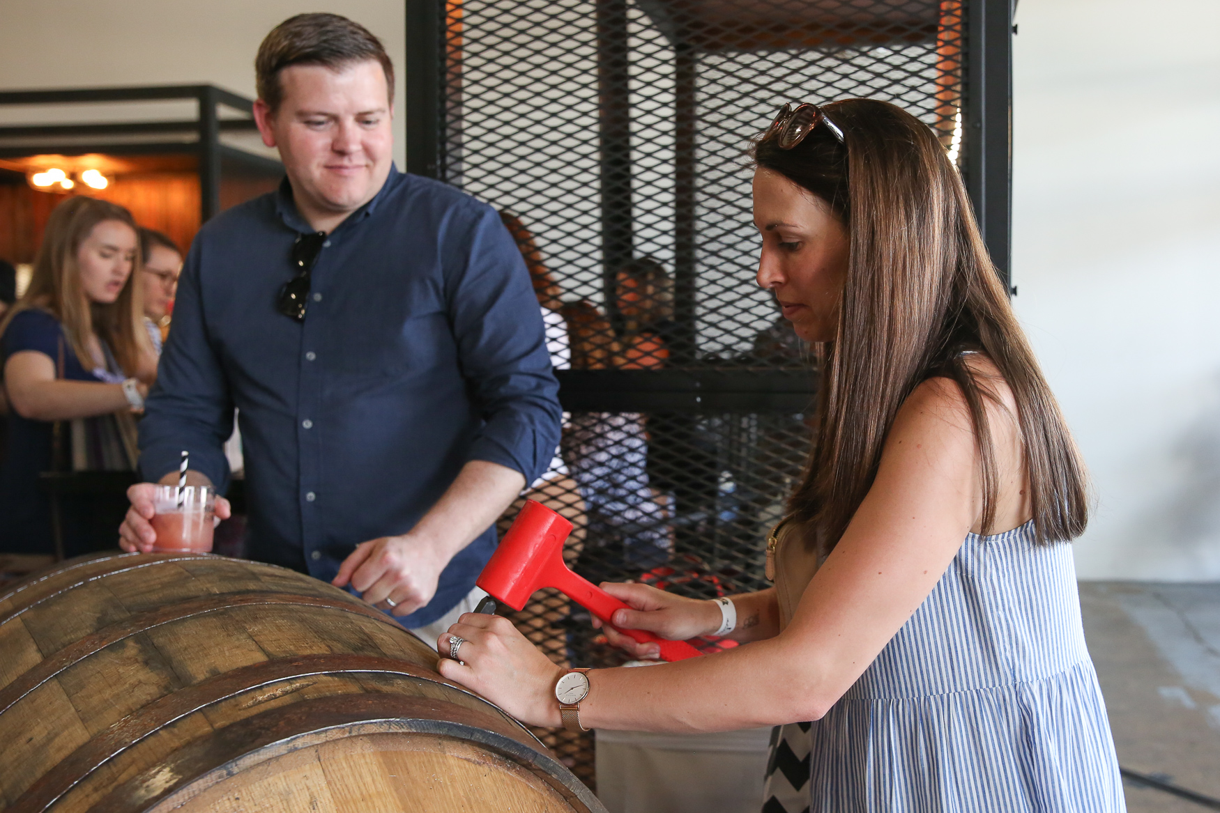 Attendees were able to sip drinks from Maker's Mark.{ }(Amanda Andrade-Rhoades/DC Refined)