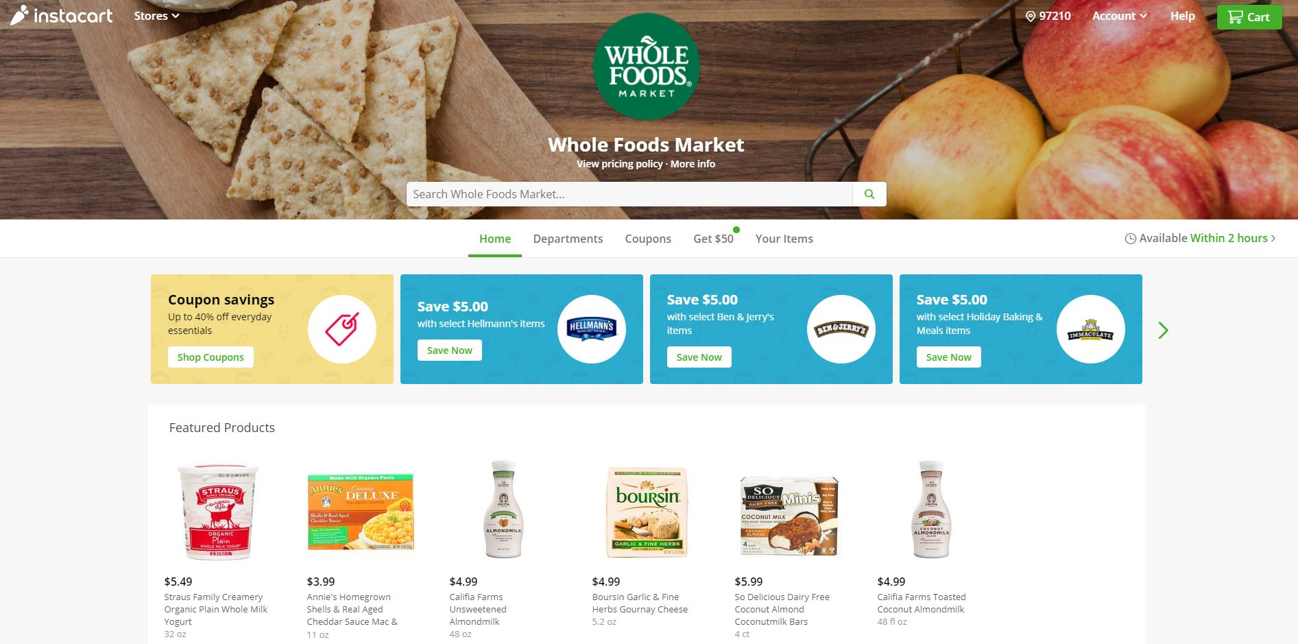 Instacart offers online shopping options from Costco and other retailers. (instacart.com)<p></p>