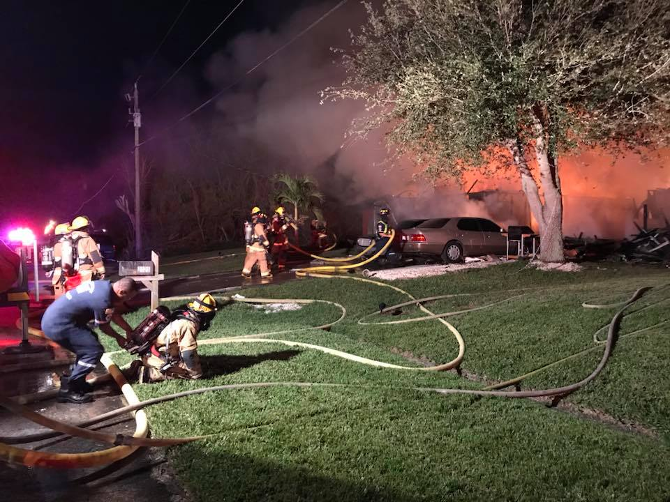 Family battling cancer loses home in fire. (St. Lucie County Fire Dist.)