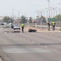 Update: Man suffers serious injuries in motorcycle crash near airport