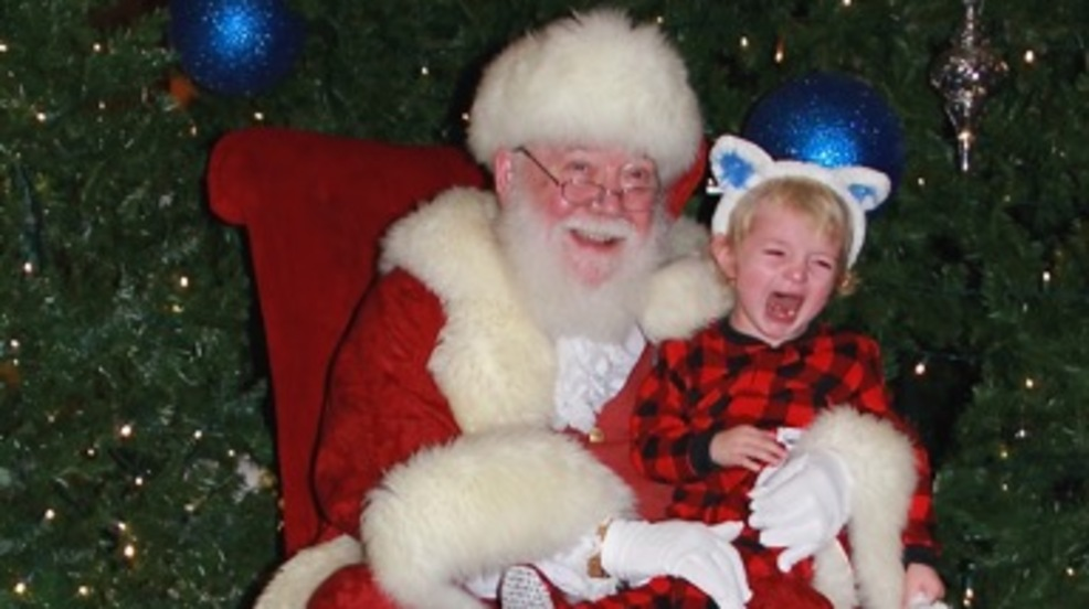 Photos Dogs Cats And Kids Crying On Santa S Lap Share