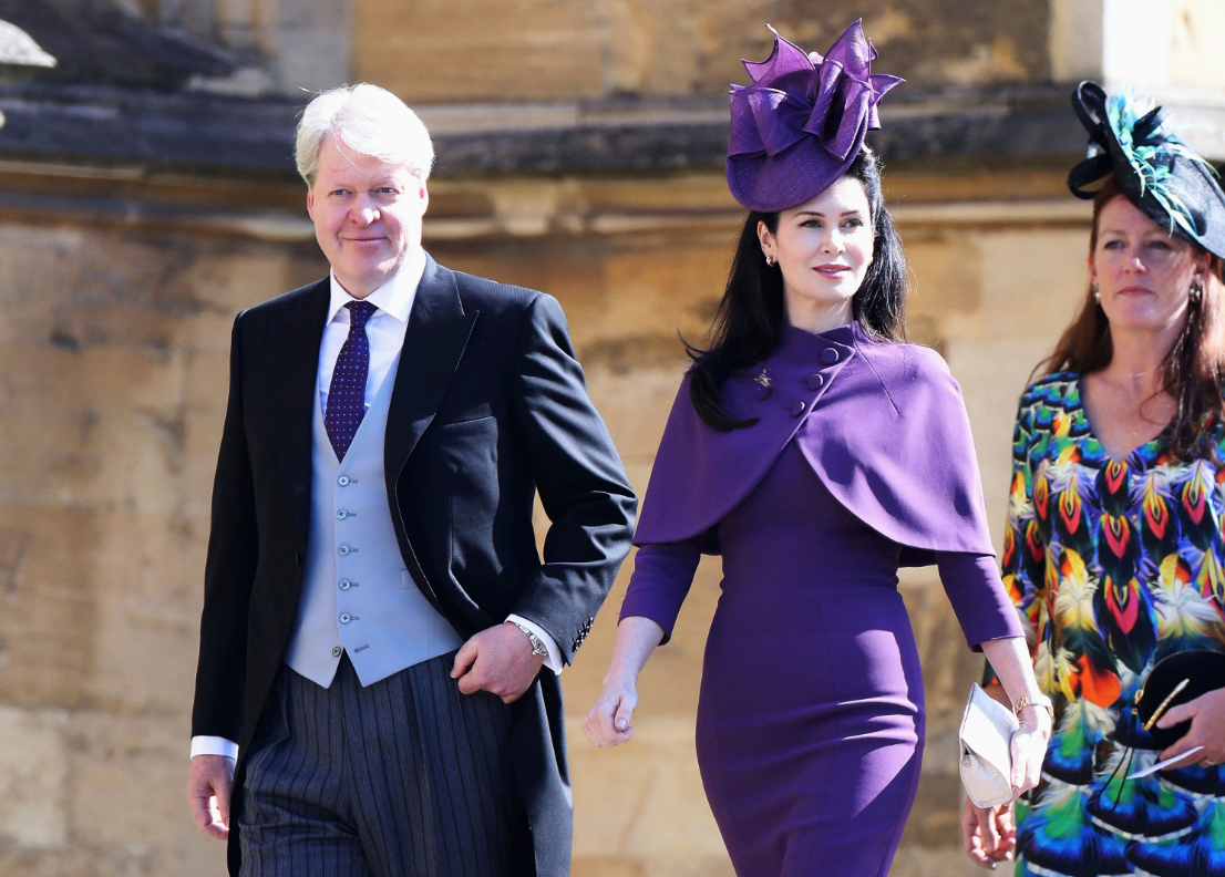 Charles Spencer, Earl Spencer and his wife, Countess Spencer arrive the wedding ceremony of Prince Harry and Meghan Markle at St. George's Chapel in Windsor Castle in Windsor, near London, England, Saturday, May 19, 2018. (Chris Jackson/pool photo via AP)<p></p>