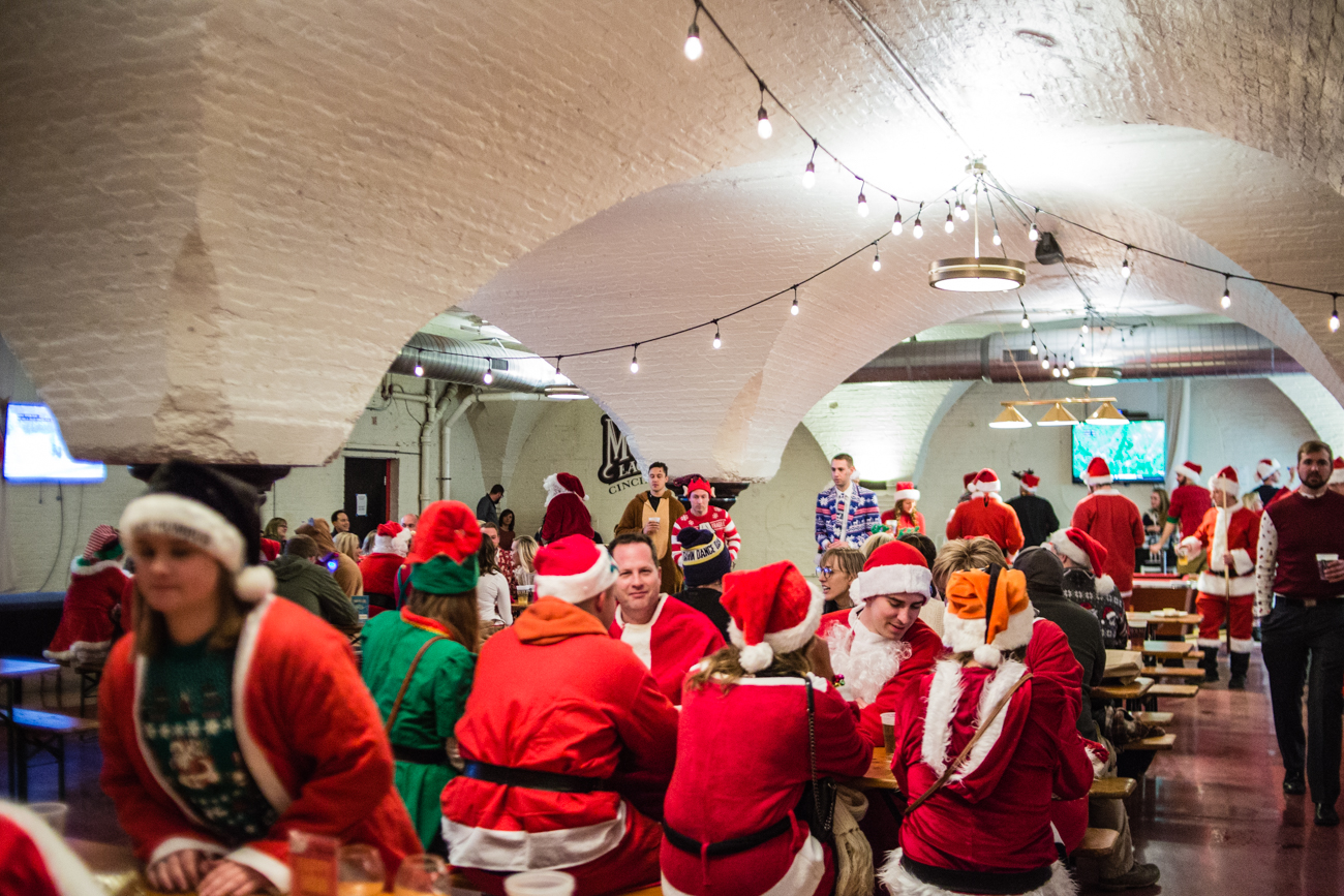 The 10th Annual Cincinnati Santacon was held on Saturday, December 9, 2017. Participants of the pub crawl wore Christmas outfits and walked through Downtown Cincinnati spreading merriment and holiday cheer. / Image: Catherine Viox // Published: 12.10.2017
