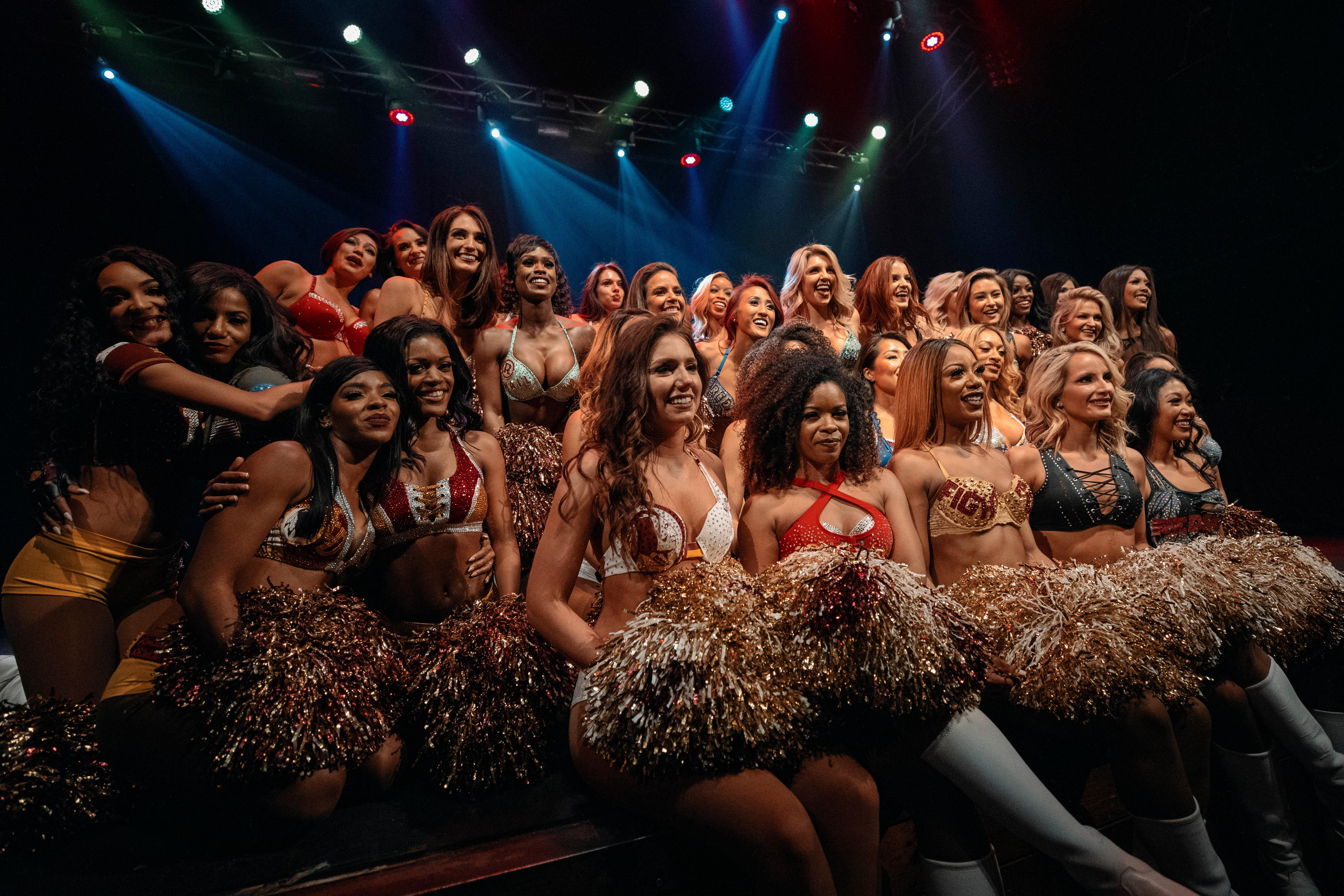 The oldest cheerleading team in football is back at it again for the 2019 season. The Washington Redskins cheerleading team held their final audition at the Howard Theater on Friday, April 5, with 36 women making the team. Without further ado, meet your 2019 First Ladies of Football! (Image: Colin J. Mason/ DC Refined)