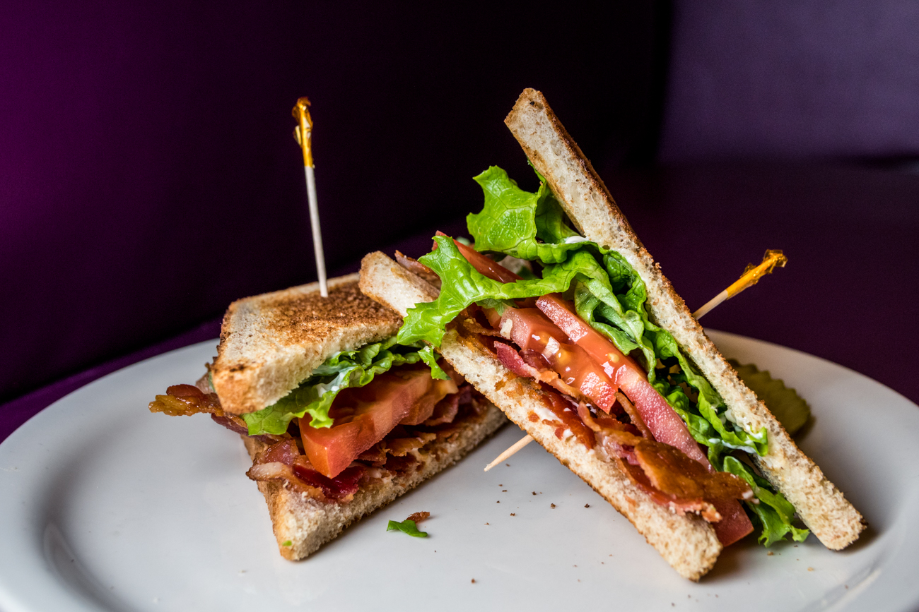 BLT: bacon, lettuce, and tomato on toasted white or wheat bread and served with pickles / Image: Catherine Viox // Published: 2.2.20
