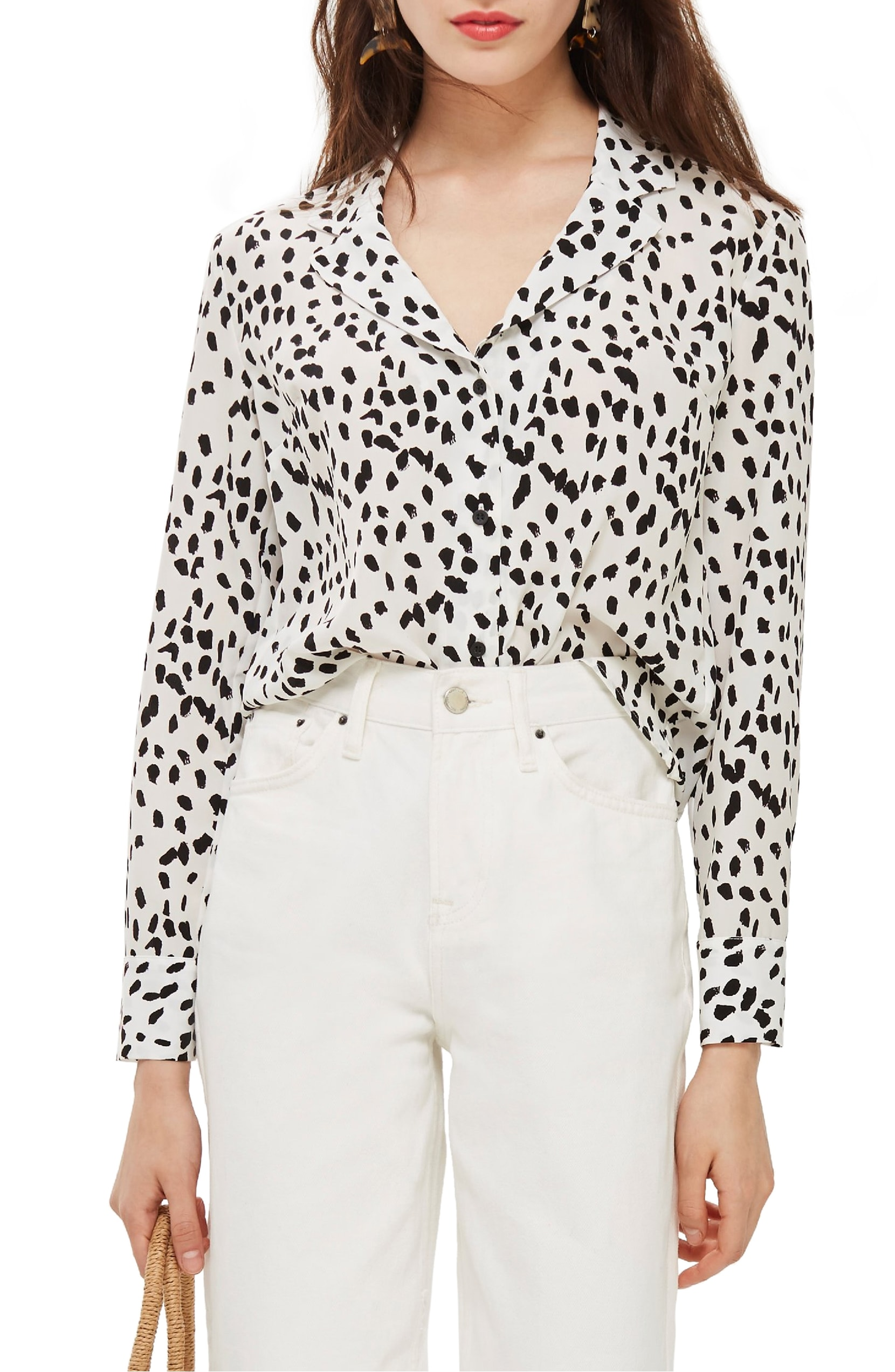 The Trend: Animal Print.{ }Take a walk on the wild side in this boldly printed top that's perfectly appropriate for work (or the party after). TOPSHOP - $68.00 (Image: Nordstrom){ }