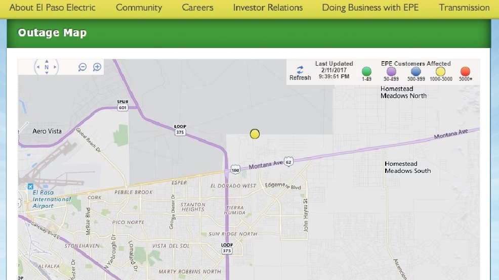 Power outage affects more than 3000 people in far east El Paso KFOX