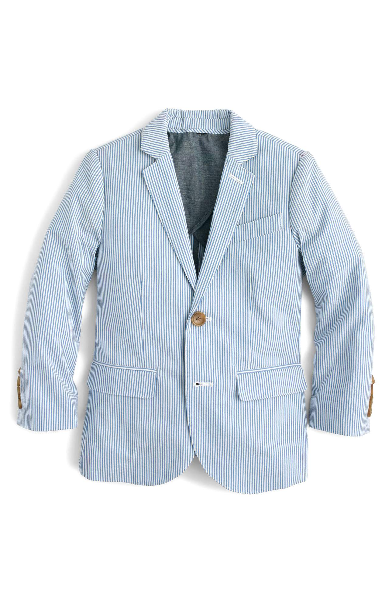 This little jacket is a great investment for your little guy.{ } Crisp and lightweight seersucker cotton distinguishes a handsome suit jacket tailored in a classic fit. Wear it all Spring and Summer long! Price: $138 at Nordstrom. (Image: Nordstrom)