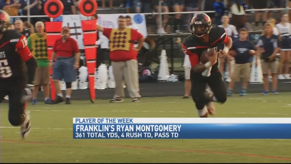 Donatos POTW - Week 5: Franklin's Ryan Montgomery