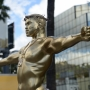 Crucifixion-posed Kayne West sculpture unveiled on Hollywood Boulevard