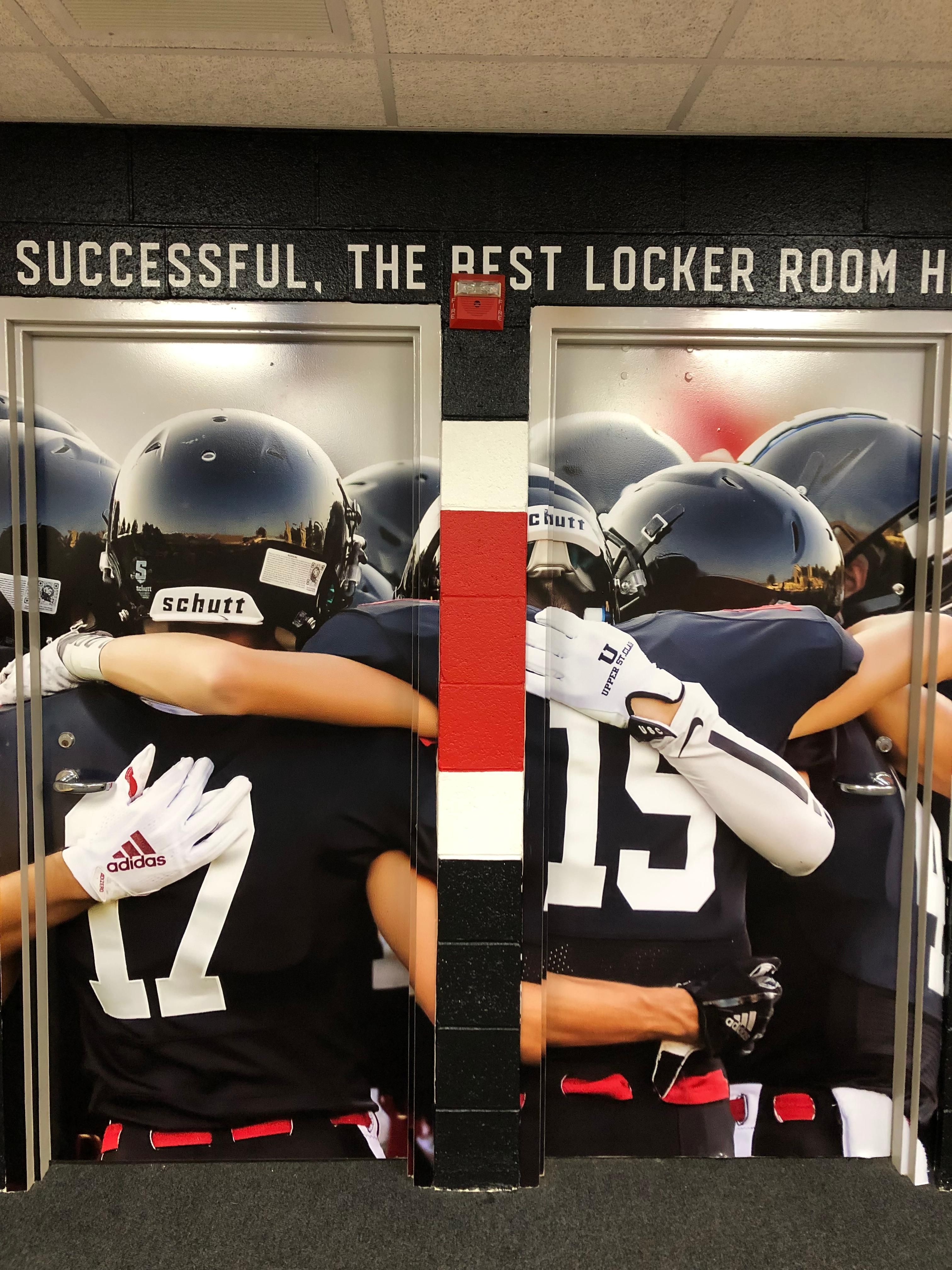 "Inside the newly updated Upper St. Clair locker room.{ }Watch the AHN Friday Night Rivals powered by IGS Energy ""Kickoff Special"" Aug. 23 at 7 p.m. on 22 the Point."