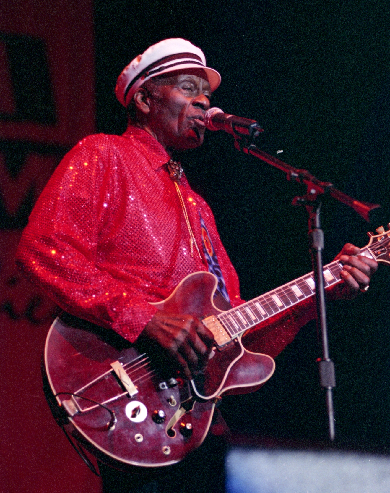 Chuck Berry performs at the Orleans Saturday, July 5, 2003, in Las Vegas. [Las Vegas News Bureau]