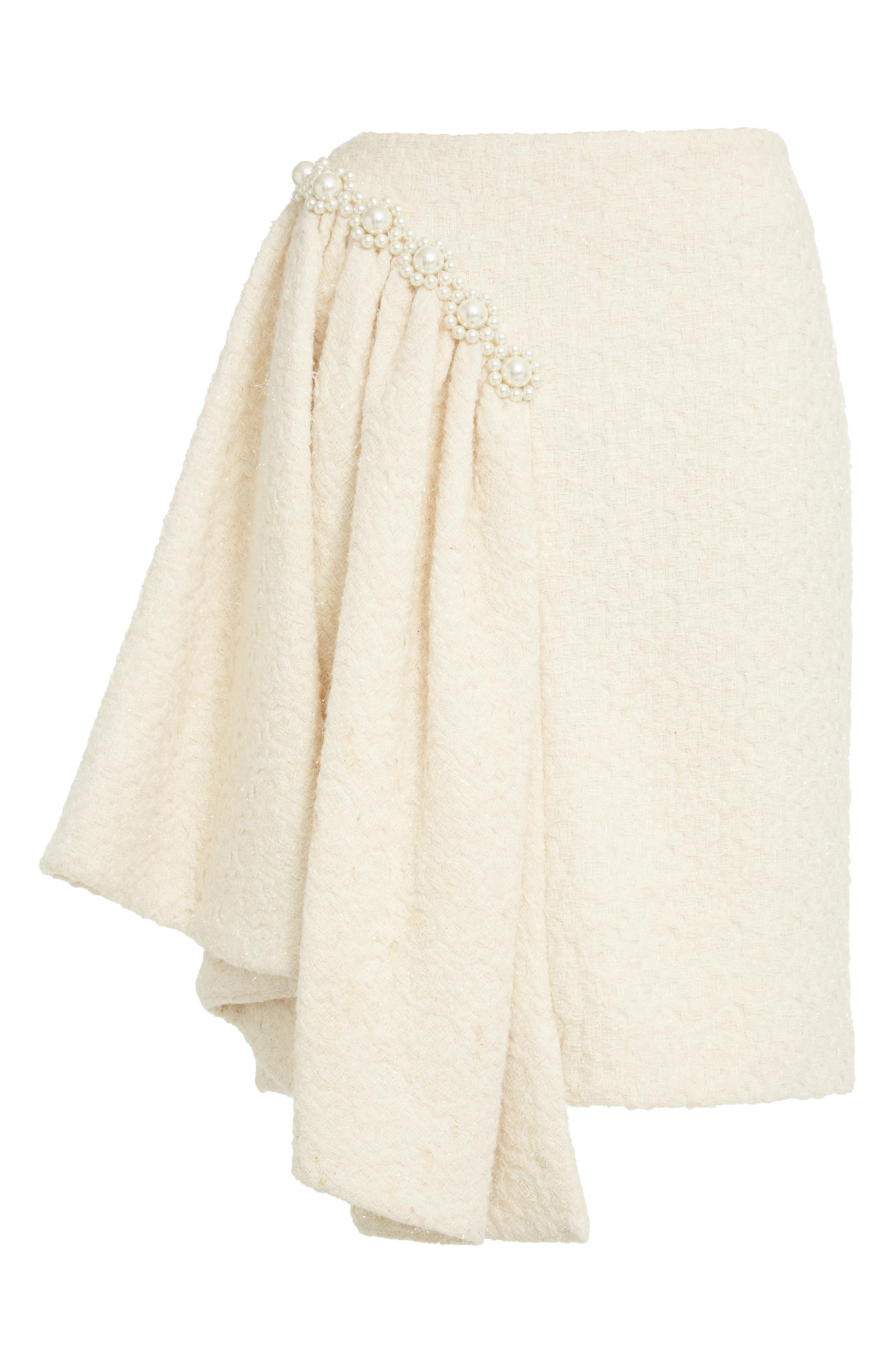 Simone Rocha Lurex Tweed Skirt with Beading on Asymmetrical Hem - $1,435. Get it at nordstrom.com/space. (Image: Nordstrom)