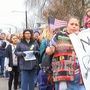 Hundreds march downtown in Martin Luther King Jr. peace walk